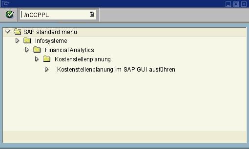 CCPPL - CCP: Planungsmappen ausführen - SAP Transaktion